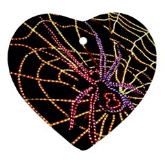 Black Widow Spider, Yellow Web Ornament (Heart)