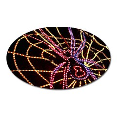 Black Widow Spider, Yellow Web Oval Magnet