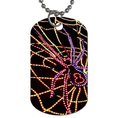 Black Widow Spider, Yellow Web Dog Tag (Two Sides)