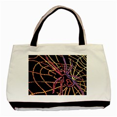 Black Widow Spider, Yellow Web Basic Tote Bag