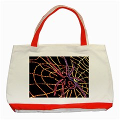 Black Widow Spider, Yellow Web Classic Tote Bag (Red)