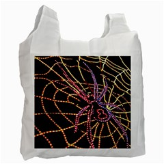 Black Widow Spider, Yellow Web Recycle Bag (One Side)