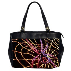 Black Widow Spider, Yellow Web Office Handbags (2 Sides)