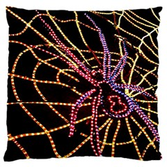 Black Widow Spider, Yellow Web Large Cushion Case (Two Sides)