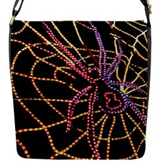 Black Widow Spider, Yellow Web Flap Messenger Bag (s)