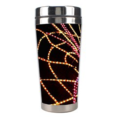 Black Widow Spider, Yellow Web Stainless Steel Travel Tumblers