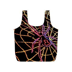 Black Widow Spider, Yellow Web Full Print Recycle Bags (S)