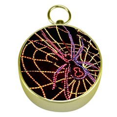 Black Widow Spider, Yellow Web Gold Compasses