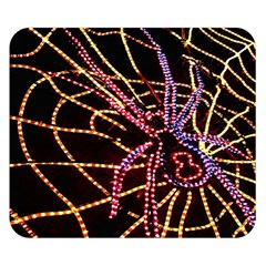 Black Widow Spider, Yellow Web Double Sided Flano Blanket (small)