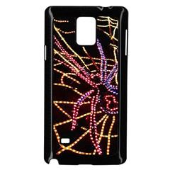 Black Widow Spider, Yellow Web Samsung Galaxy Note 4 Case (black)