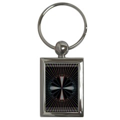 Fractal Rays Key Chains (Rectangle)