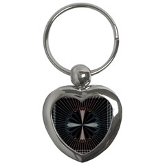 Fractal Rays Key Chains (heart)