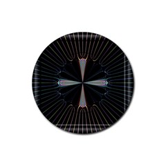 Fractal Rays Rubber Coaster (round)