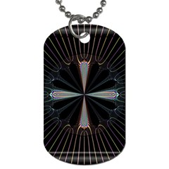 Fractal Rays Dog Tag (Two Sides)