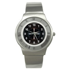 Fractal Rays Stainless Steel Watch
