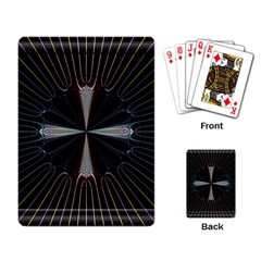 Fractal Rays Playing Card