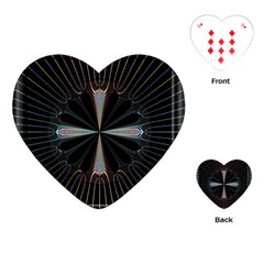 Fractal Rays Playing Cards (Heart)
