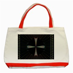 Fractal Rays Classic Tote Bag (Red)