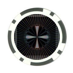 Fractal Rays Poker Chip Card Guard