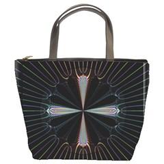 Fractal Rays Bucket Bags