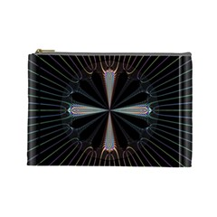 Fractal Rays Cosmetic Bag (Large)