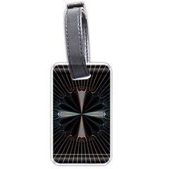 Fractal Rays Luggage Tags (One Side)