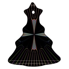 Fractal Rays Christmas Tree Ornament (two Sides)
