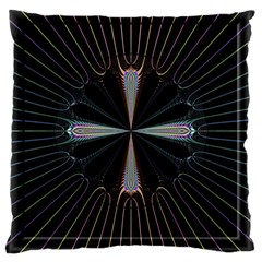 Fractal Rays Large Cushion Case (two Sides)