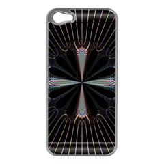 Fractal Rays Apple iPhone 5 Case (Silver)