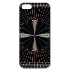 Fractal Rays Apple Seamless iPhone 5 Case (Clear)
