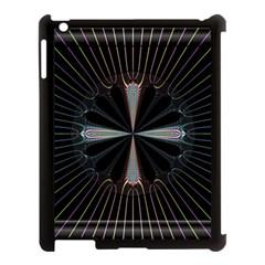 Fractal Rays Apple iPad 3/4 Case (Black)