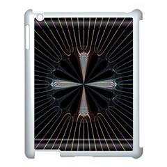 Fractal Rays Apple Ipad 3/4 Case (white)