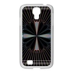 Fractal Rays Samsung GALAXY S4 I9500/ I9505 Case (White)