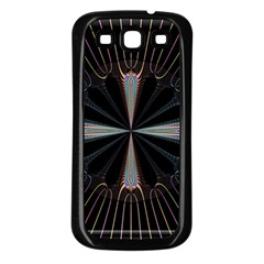 Fractal Rays Samsung Galaxy S3 Back Case (Black)