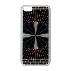 Fractal Rays Apple iPhone 5C Seamless Case (White)