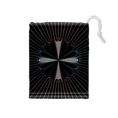 Fractal Rays Drawstring Pouches (Medium)