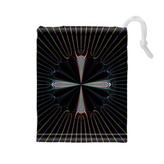 Fractal Rays Drawstring Pouches (Large)