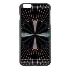 Fractal Rays Apple Iphone 6 Plus/6s Plus Black Enamel Case