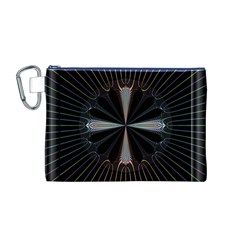 Fractal Rays Canvas Cosmetic Bag (M)
