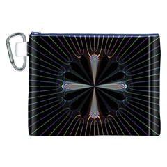 Fractal Rays Canvas Cosmetic Bag (xxl)