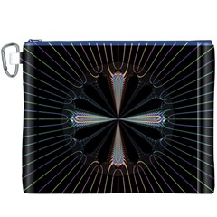 Fractal Rays Canvas Cosmetic Bag (XXXL)