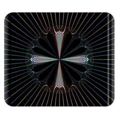 Fractal Rays Double Sided Flano Blanket (Small)