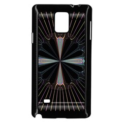 Fractal Rays Samsung Galaxy Note 4 Case (Black)