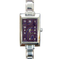 Abstract Colorful Spheres Rectangle Italian Charm Watch