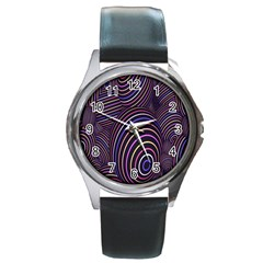 Abstract Colorful Spheres Round Metal Watch