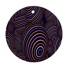 Abstract Colorful Spheres Ornament (round)