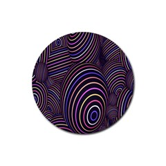 Abstract Colorful Spheres Rubber Round Coaster (4 pack)