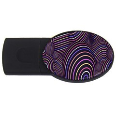 Abstract Colorful Spheres USB Flash Drive Oval (2 GB)