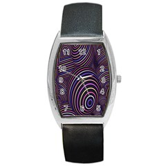 Abstract Colorful Spheres Barrel Style Metal Watch