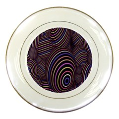 Abstract Colorful Spheres Porcelain Plates